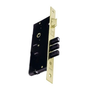 Κλειδαριά Απλή Ξύλινης Πόρτας Domus 9054C Τρίαινα