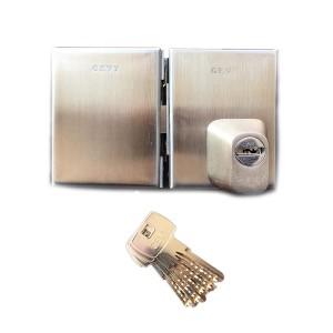 Κλειδαριά Γυάλινης Πόρτας Gevy 118.057 με Αφαλό Ασφαλείας & Defender
