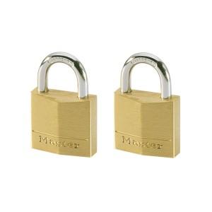 Λουκέτα Ορειχάλκινα Master Lock Σετ των Δύο με το Ίδιο Κλειδί