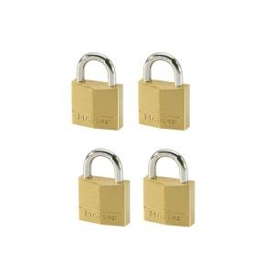 Λουκέτα Ορειχάλκινα Master Lock Σετ 4 Τεμ. με Ίδιο Κλειδί