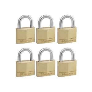 Λουκέτα Ορειχάλκινα Master Lock Σετ 6 Τεμ. με Ίδιο Κλειδί